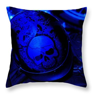 Skull Cap Throw Pillow