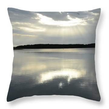 Throw Pillow featuring the photograph Skull Creek  by Margaret Palmer