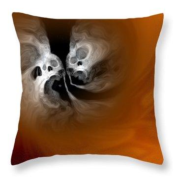 Skull Scope 4 Throw Pillow by Adam Vance
