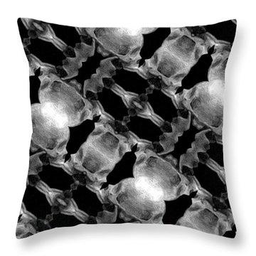 Skull Scope 7 Throw Pillow by Adam Vance