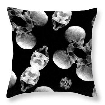 Skull Scope 8 Throw Pillow by Adam Vance