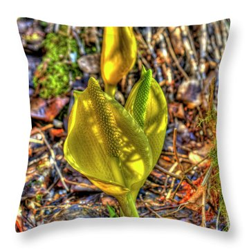 Skunk Cabbage - 2 Throw Pillow