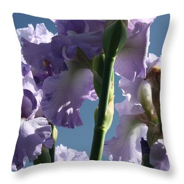 Sky And Flowers Throw Pillow