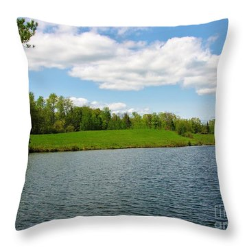 Throw Pillow featuring the photograph Sky And Water Almost Meet by Sherman Perry