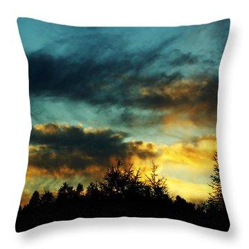Sky Attitude Throw Pillow by Aimelle