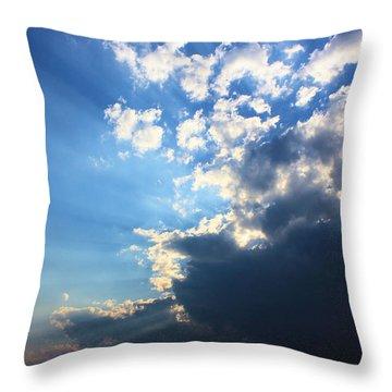 Sky Drama Throw Pillow by Kristin Elmquist