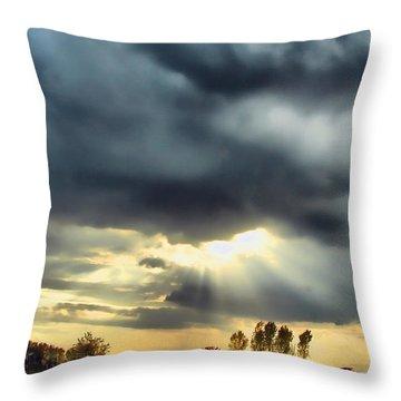 Sky In Turmoil Throw Pillow by Tom Schmidt