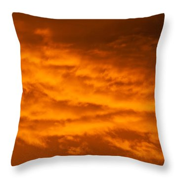 Sky Of Fire Throw Pillow