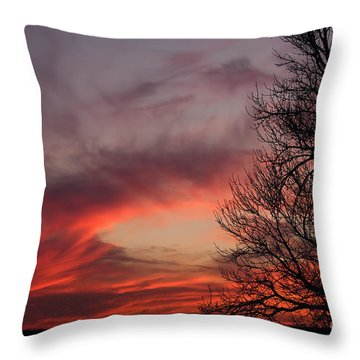 Throw Pillow featuring the photograph Sky On Fire by Art Whitton