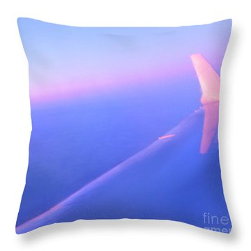 Skybluepink Throw Pillow