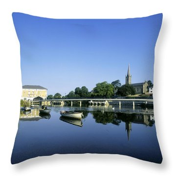 Skyline Over The River Garavogue, Sligo Throw Pillow by The Irish Image Collection