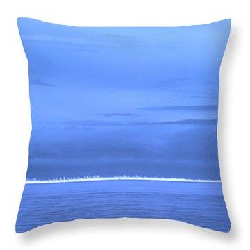 Throw Pillow featuring the photograph Skyline Salton Sea by Hugh Smith
