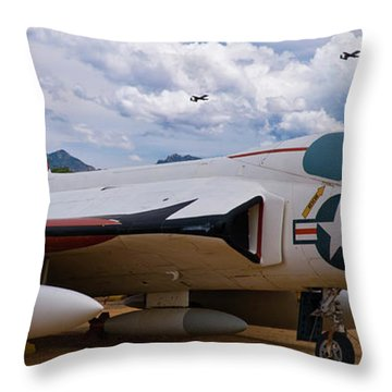 Skyray And Hawgs Throw Pillow by Tim Mulina