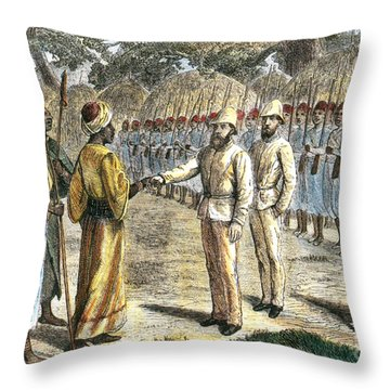 Slave Trader Surrenders To Baker, 1869 Throw Pillow by Photo Researchers
