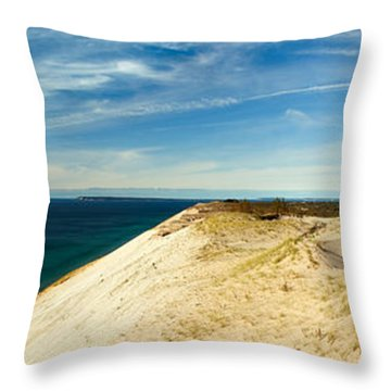 Sleeping Bear Dunes Throw Pillow