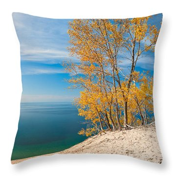 Sleeping Bear Dunes Vista 001 Throw Pillow