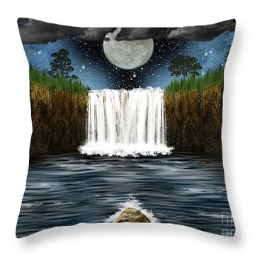 Sleepy River Throw Pillow by Thomas OGrady