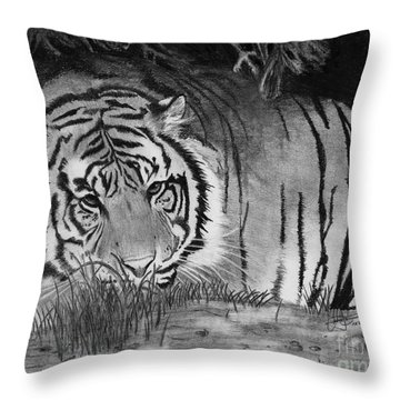 Sleepy Tiger Throw Pillow