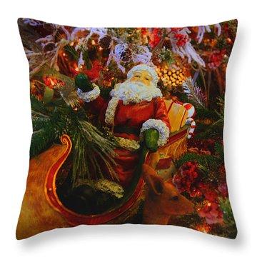 Sleigh Ride Throw Pillow by Toni Hopper