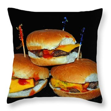 Sliders Throw Pillow by Cindy Manero