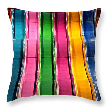 Throw Pillow featuring the photograph Slides by Jo Sheehan