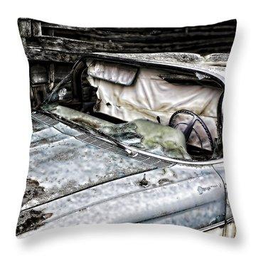 Slimy Sue  Throw Pillow by Jerry Cordeiro