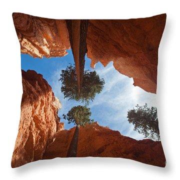 Slot Canyon Throw Pillow by Greg Dimijian