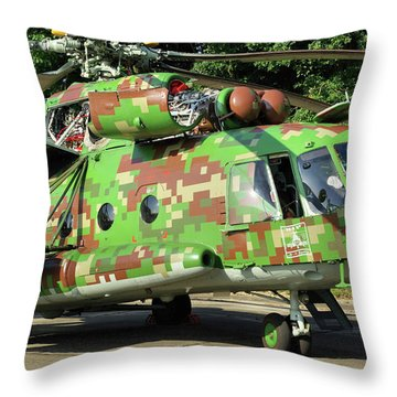Slovak Mil Mi-17 Hip Throw Pillow