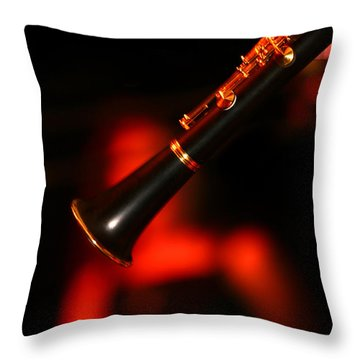 Slow Jazz Throw Pillow by Lon Casler Bixby