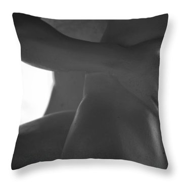 Small Of Her Back Throw Pillow by Nathan Larson