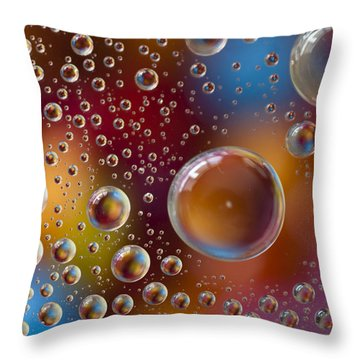 Smartie Drops Throw Pillow