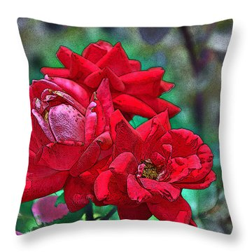 Smell The Roses Throw Pillow by Paul Mashburn