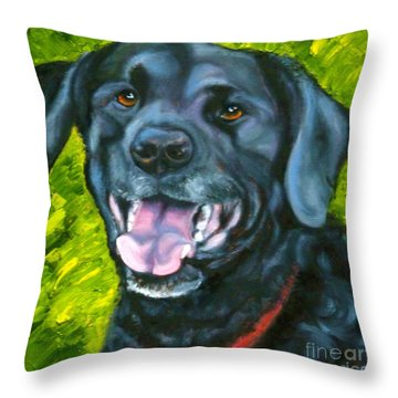 Smiling Lab Throw Pillow