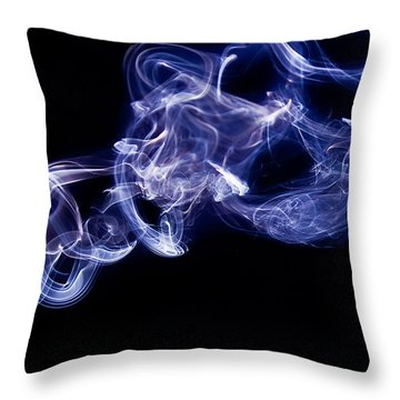 Smoke 11 Throw Pillow by Dan Wells