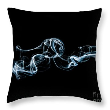 Smoke-3 Throw Pillow by Larry Carr