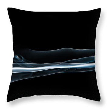 Smoke-4 Throw Pillow