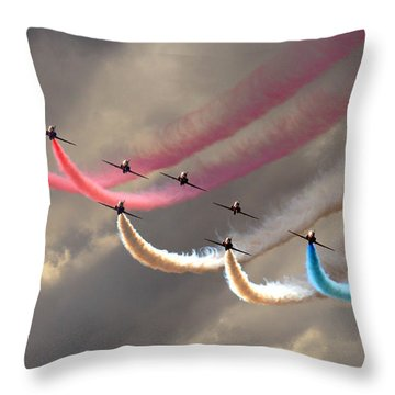 Smoke Swirls Throw Pillow
