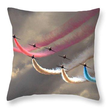 Smoke Swirls Throw Pillow by Ken Brannen