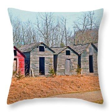 Smokehouse Row Throw Pillow