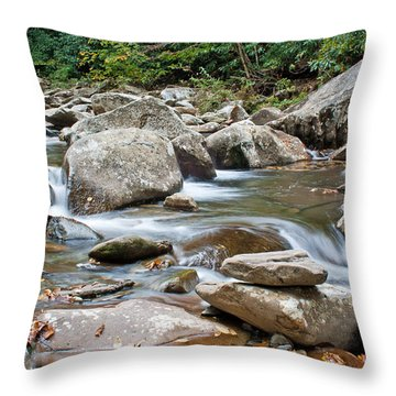 Smoky Mountain Streams Throw Pillow