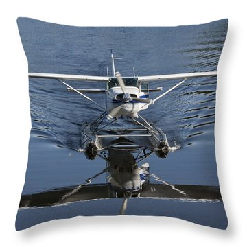 Smoooth Landing Throw Pillow by David Kehrli