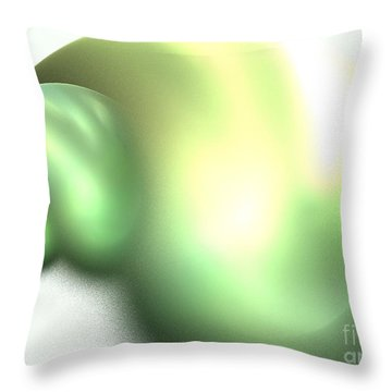 Snail Throw Pillow by Kim Sy Ok