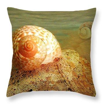 Snailing Around Throw Pillow