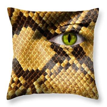 Snake Eye Throw Pillow by Semmick Photo