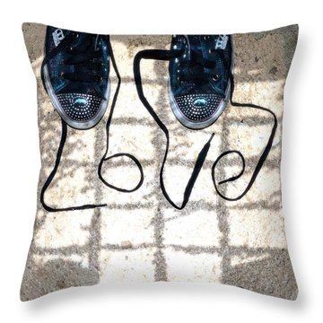 Sneaker Love 1 Throw Pillow by Paul Ward