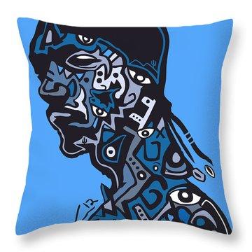 Snoop Dogg Throw Pillow by Kamoni Khem