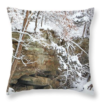 Snow And Sandstone Throw Pillow