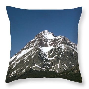 Snow Covered Mountain Throw Pillow by Amanda Kiplinger