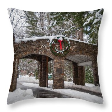 Snow Gate  Throw Pillow by Joye Ardyn Durham