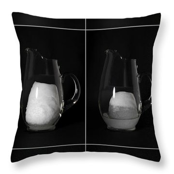 Snow Melting Throw Pillow